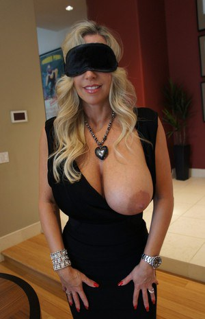 Busty mom fucking in the kitchen